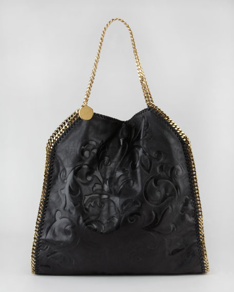 Damask-Embossed Falabella Tote Bag