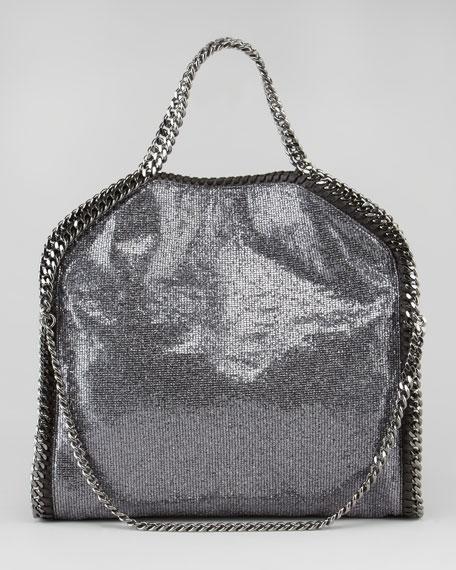 Fold-Over Falabella Tote Bag, Pewter