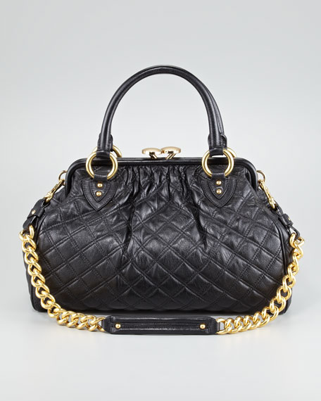 Stam Quilted Leather Satchel Bag