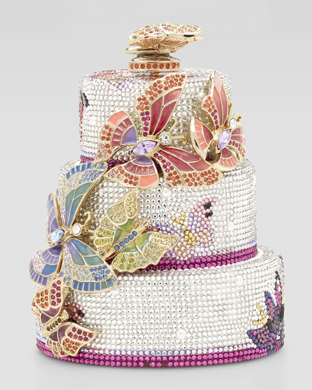 Judith Leiber Butterfly Cake Minaudiere