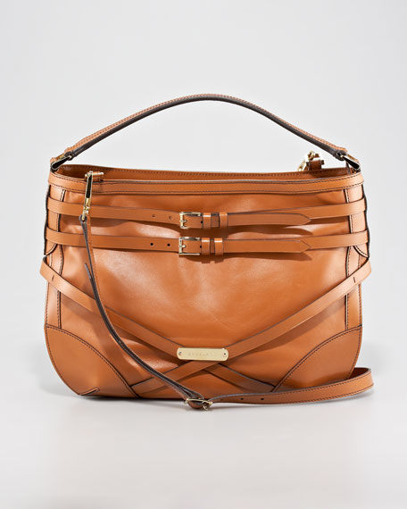 Belted Leather Hobo