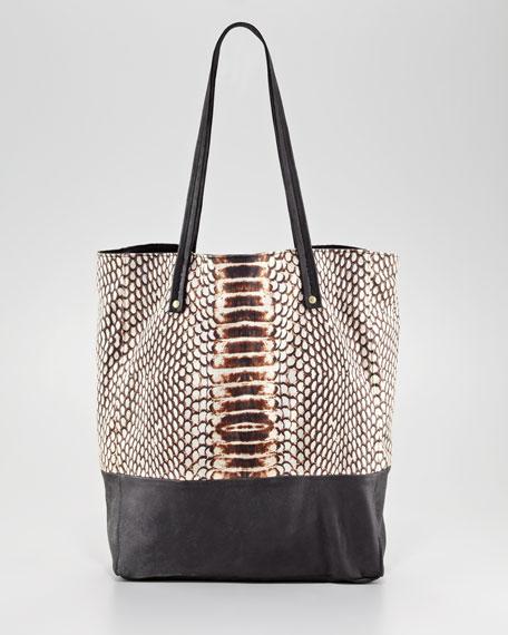Ostrich-Print Ex-Boyfriend Shopping Tote Bag