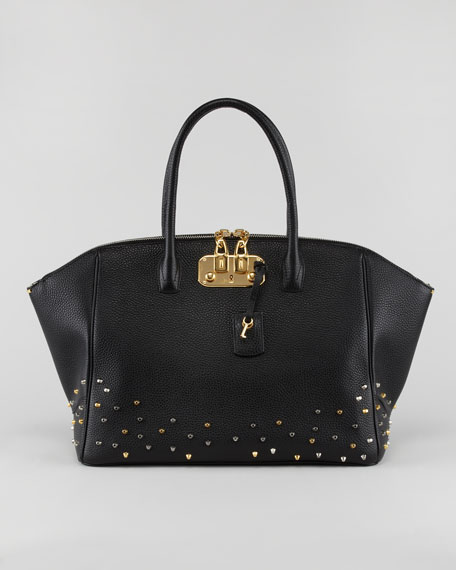 Brera Studded Satchel Bag