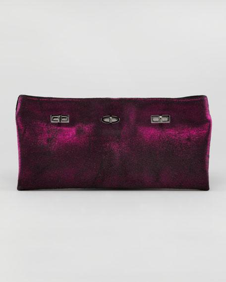 PM Metallic Calf Hair Clutch Bag