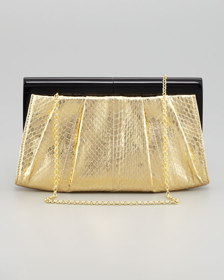 Boulet Snakeskin Clutch Bag