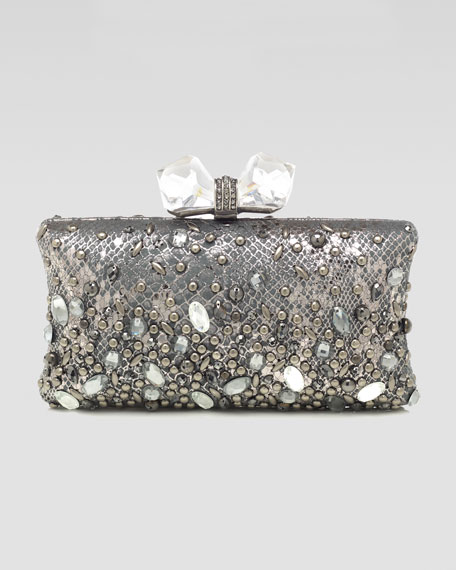 Vanessa Concave Side Rectangle Clutch Bag