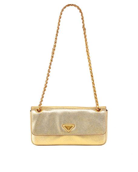 Saffiano Lux Chain Shoulder Bag