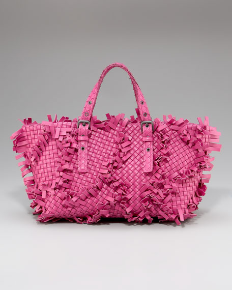 Fringed Woven Tote