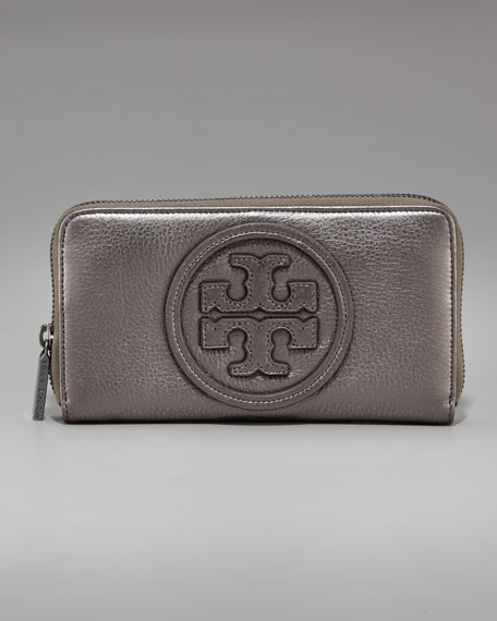 Metallic Continental-Zip Wallet