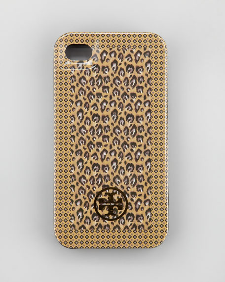 Animal-Print Hard-Shell iPhone 4 Case, Camel