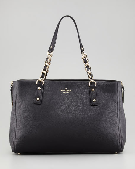cobble hill andee tote bag, black