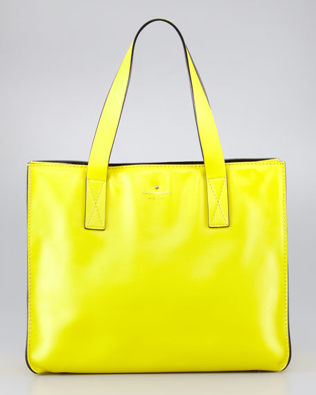brightspot avenue grayce tote bag, vivid yellow