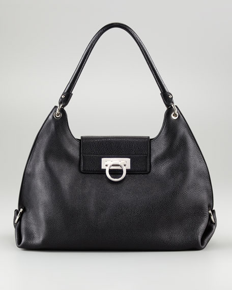 Fanisa Gancini Hobo Bag, Black