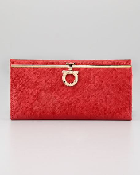 Icona Continental Wallet, Red