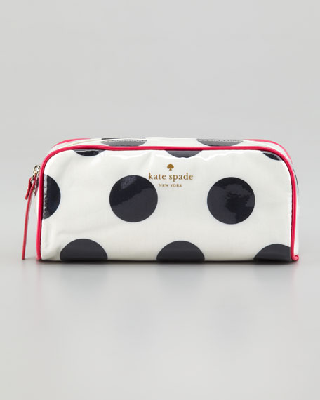 le pavillion small henrietta polka-dot cosmetic case