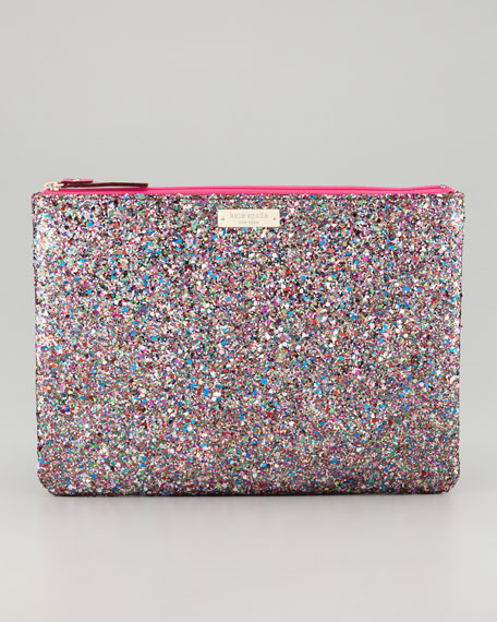 glitterball gia clutch bag, multicolor