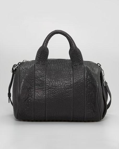 Rocco Stud-Bottom Satchel Duffel Bag, Nickel