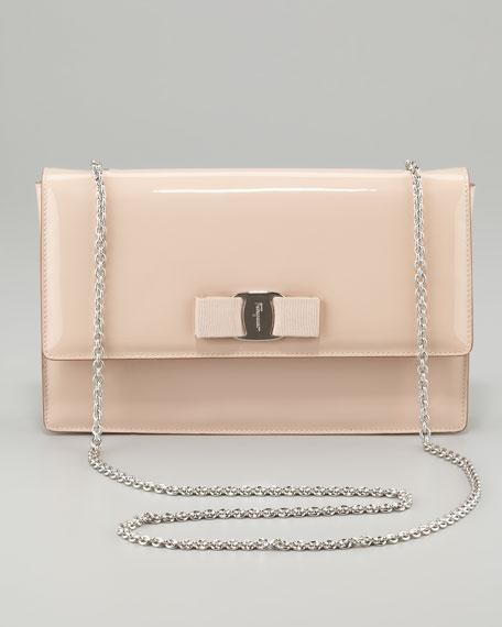 8d2ffc6d0f3 Salvatore Ferragamo Vara Ginny Patent Flap Shoulder Bag, Rose