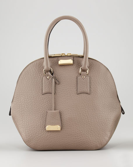 Medium Bowler Bag, Taupe