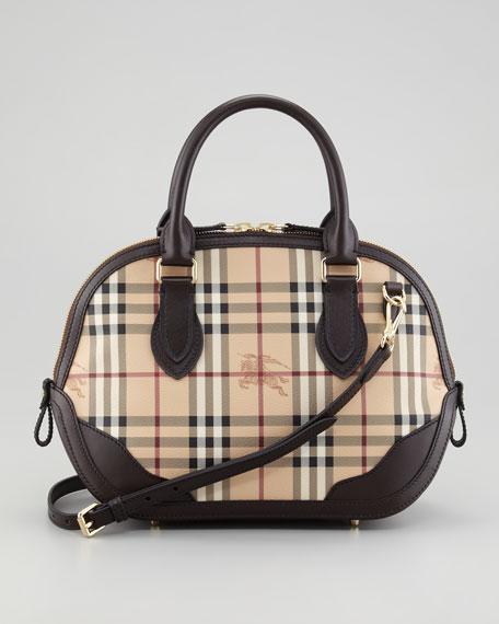 Small Check Satchel Bag