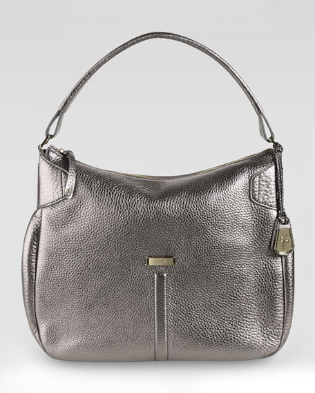 Village Rounded Hobo Bag, Gunsmoke