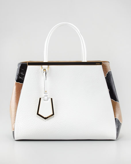 2Jours Patent Calfskin Medium Tote Bag