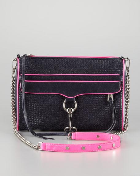 M.A.C. Woven Clutch Crossbody Bag