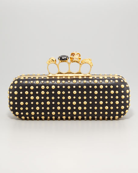 Etched-Stud Knuckle-Duster Clutch Bag