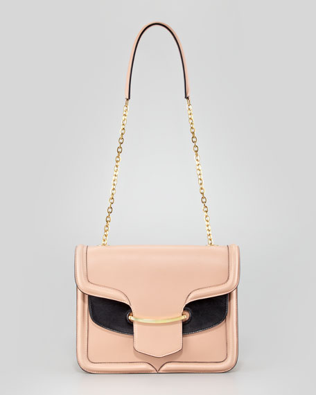 Heroine Shoulder Bag, Blush/Black
