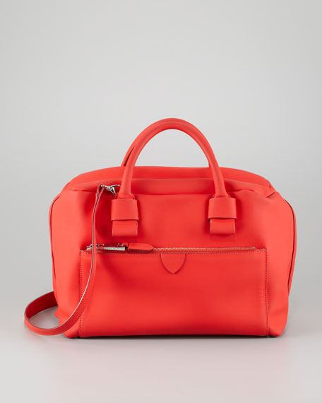 Antonia Small Satchel Bag, Red