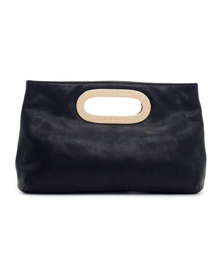Berkley Pebbled Leather Clutch Bag