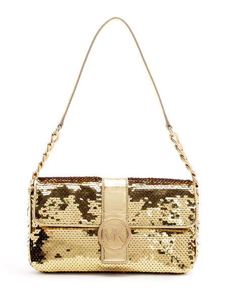 Fulton Sequined Small Flap Bag