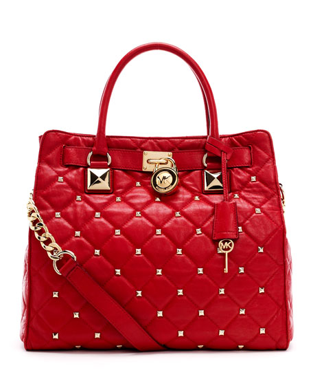 Large Hamilton Studded Quilted Tote Bag