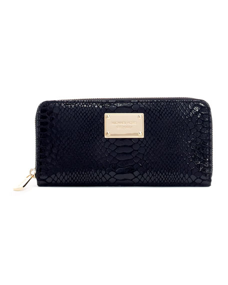 Jet Set Python-Embossed Continental Wallet