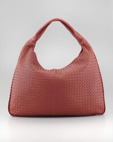 Maxi Veneta Hobo Bag, Coral