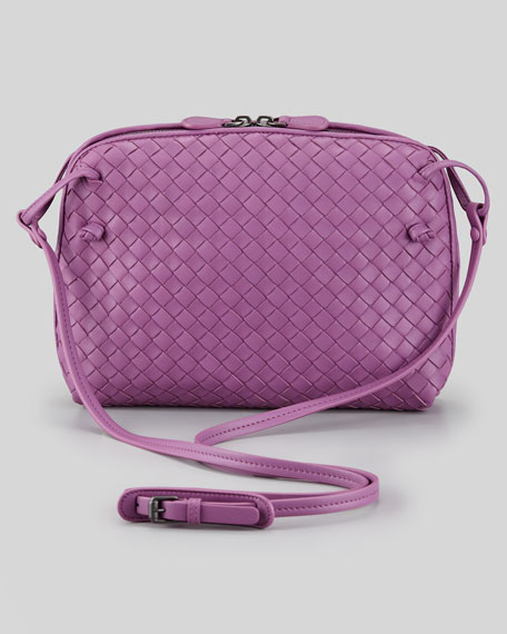 Veneta Small Crossbody Bag, Purple