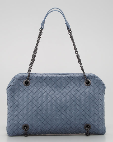 Veneta Small Shoulder Bag, Blue