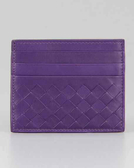 Woven Leather Card Case