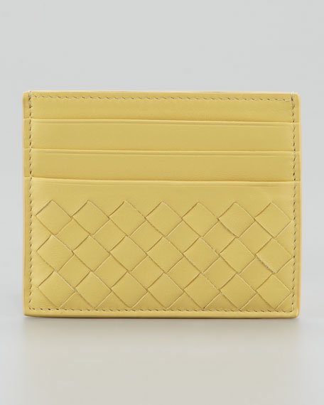 Woven Card Case, Yellow