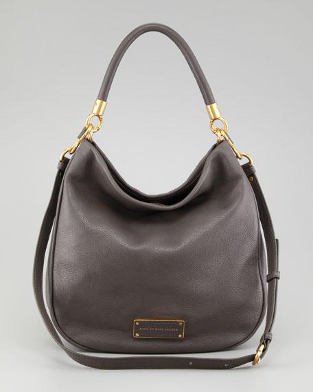 Too Hot To Handle Hobo Bag, Faded Aluminum