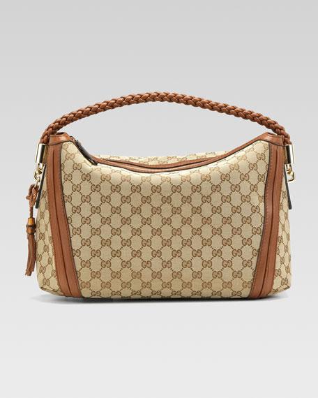 Bella Medium Hobo Bag, Cuir