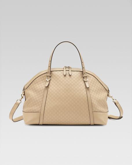 Nice Microguccissima Top-Handle Bag, Cream