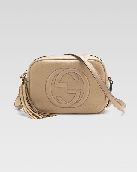 Soho Leather Disco Bag, Cream