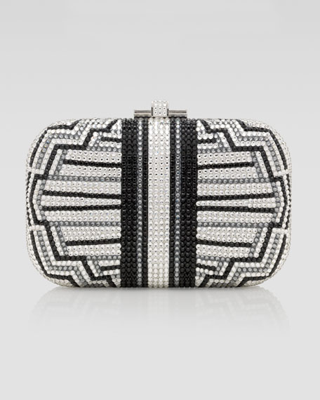 Charleston Striped Clutch Bag