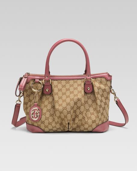 Sukey Original GG Canvas Top-Handle Bag, Soft Rose