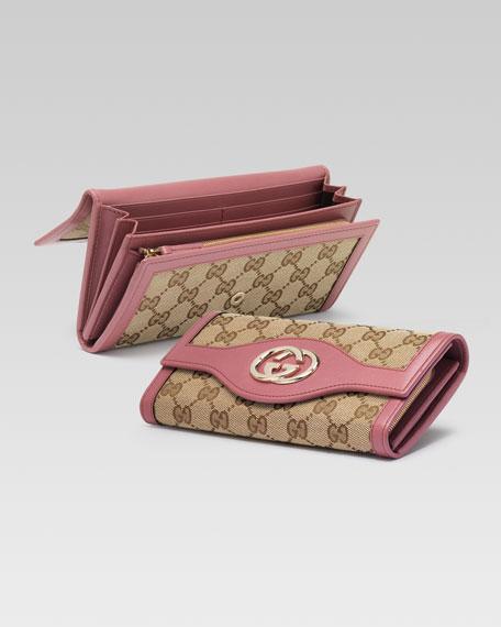 Original GG Canvas Continental Wallet, Soft Rose