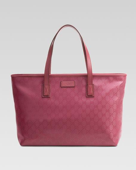 Gucci GG Medium Imprimee Tote Bag, Vintage Rose