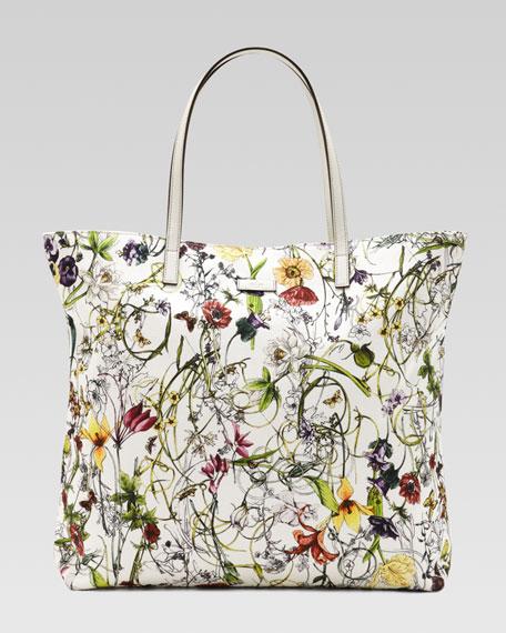 Medium Flora Infinity Canvas Tote Bag