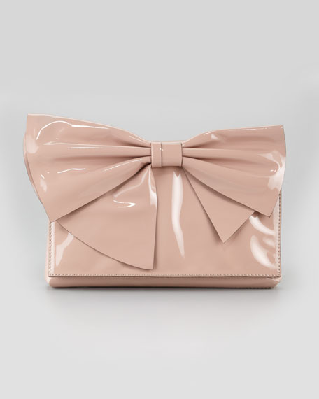 Lacca Bow Clutch Bag, Soft Noisette