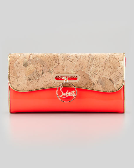 Riviera Patent Leather & Cork Clutch Bag